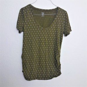 Old Navy Maternity FItted Tee Shirt Ruched Print